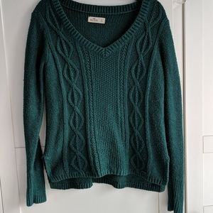 Hollister cable knit v-neck sweater